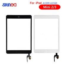 AAA Dokunmatik Ekran Için iPad Mini 3 2 Mini3 Mini2 Dokunmatik Cam Ekran Digitizer Ile Ev Düğmesi IC Konektörü Için iPad Mini 3 2