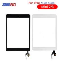 AAA Tela Sensível Ao Toque Para iPad Mini 3 2 Mini3 Mini2 Toque Digitador de Vidro Da Tela Home Button Com IC Conector Para mini iPad 3 2