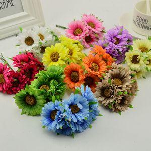 Венок ручной работы gerbera для домашнего сада, 6 шт., материал для изготовления венков, украшения свадебного банкета, искусственные ножницы для цветов