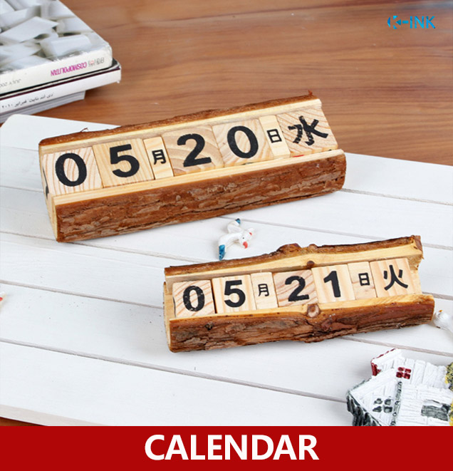 New decorative desk calendar , vintage wood universal calendar , perpetual calendar , DIY wooden office calendar