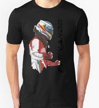 Envío Gratis camisetas para hombre moda 2016 Fernando Alonso camiseta algodón manga corta Camisetas o-cuello camisetas