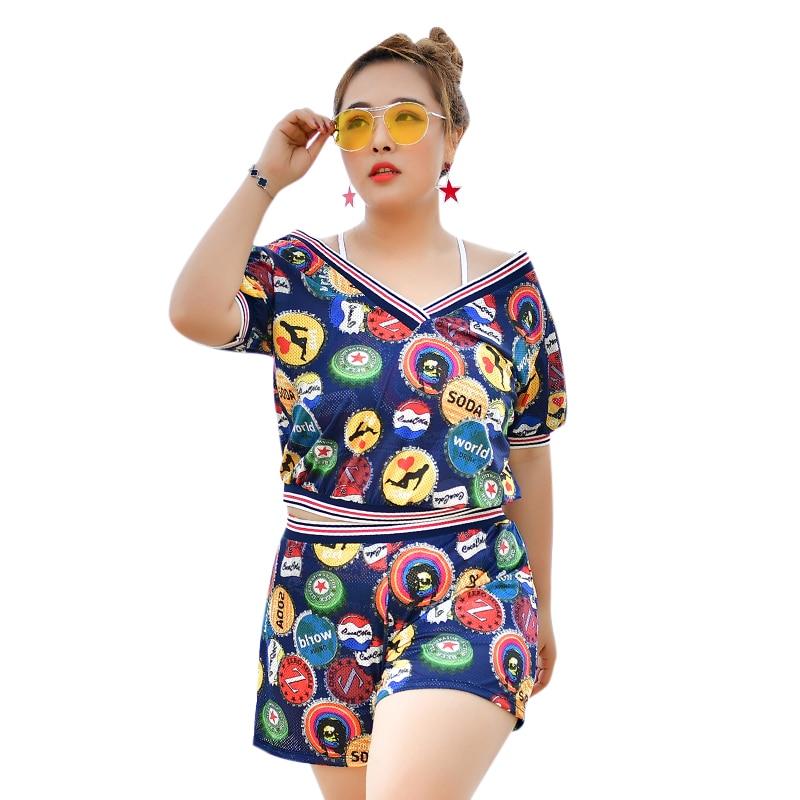 New arrival bikini set with sunproof cover up short sleeve short pants swimwear padded bathing suit 3 colols beachwear swimsuit