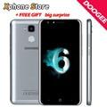 Identificación de huellas dactilares doogee y6 c 5.5 2.5d teléfono android 6.0 mtk6737 ''mobile 64-bit quad core 2 gb + 16 gb dual sim teléfono móvil