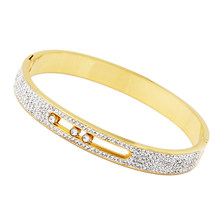 3f33f9f9a New Design Zircon Jewelry Top Quality Stainless Steel Can Be Sliding  Crystal Brands Bracelets For Women Bangle Wholesale