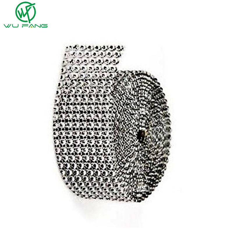 Decorazione di cerimonia nuziale 1 Yard Silver Diamond Mesh Christmas Hollow imitazione Crystal Ribbon Strass Mesh Rifinitura base 8 righe