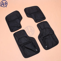 4pcs Motorcycle Black Saddlemen Hard Saddlebags Lid Organizer Kit For Harley Touring 1996 2013