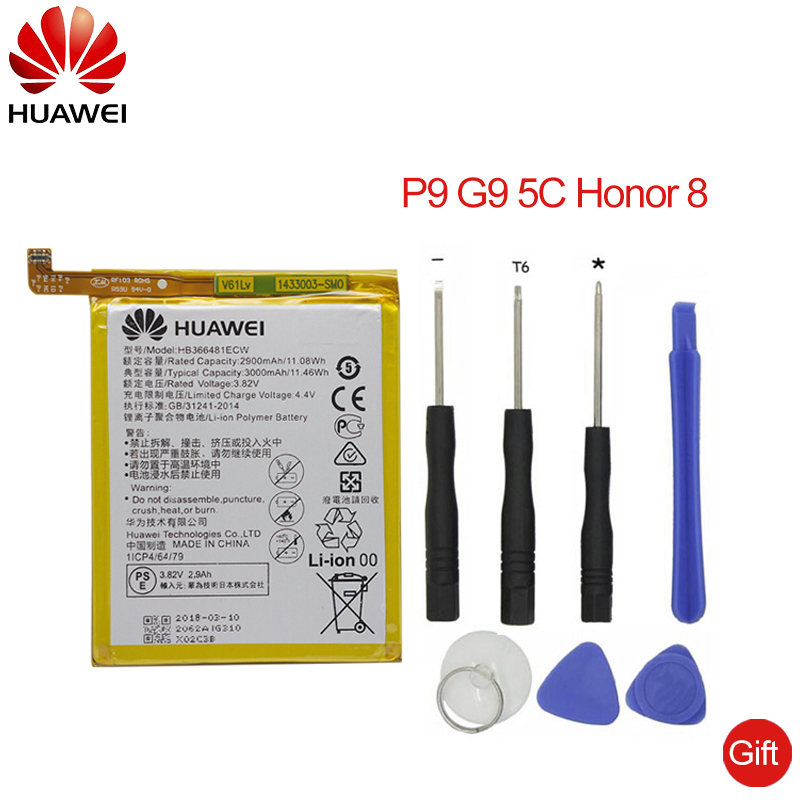 Hua Wei Original Phone Battery For Huawei P9 P10 Lite Honor 8 9 Lite 9i 5C 7C 7A Enjoy 7S 8 8E Nova Lite 3E GT3 HB366481ECW