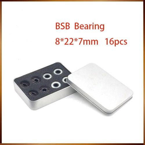 Pro-blacken Excellent Speed 608 z Skate Bearing Swiss BSB bearing 608 Abec11 Ceramic White ZrO2 Ball Skateboard Bearing Skating