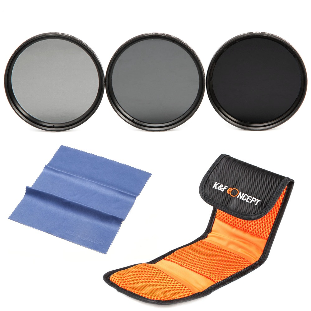 K & F Concetto 37mm ND Filter Set ND2 ND4 ND8 Neutral Density ND Kit filtro Per Canon 700D 1100D 1200D 600D 400D T3i T2i T4i