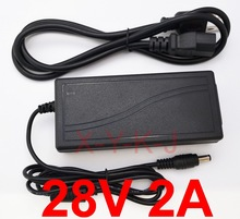 1PCS 28V 2A High quality AC DC Switching Power Supply for PMW280200 28V 2A OPI Studio LED Lamp Light GL900 Adapter Charger+Cable