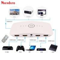 4 K 60Hz HDMI Switch Porta HDMI Switcher HUB Box 5 5x1 HDR Conversor HDMI Com IR romote Suporte HDCP 2.2 Para PS4 XBox DVD TV