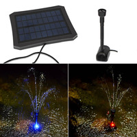 DC 7V Solar Fountain Watering kit Power Solar Pump Pool Pond Submersible Waterfall Floating Solar Panel Water Fountain Garden LC