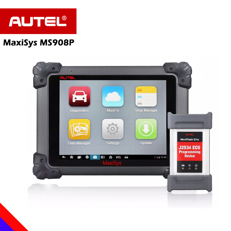 Autel Maxisys MS908P Diagnostic Scanner OBD2 Automotive Scan Tool with MaxiVideo MV105 Including ECU Coding ECU Programming and Video Inspection for Professional Technicians