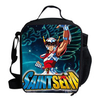 Children'sThicken Folding Fresh Saint Seiya Design Lunch Bag Cooler Bag For Steak Insulation Thermal Bag Insulation Ice Pack