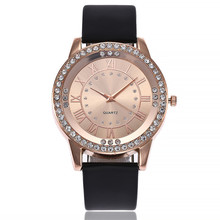 Women's Luxury Quartz Watch Leather Band Newv Strap Jewelry