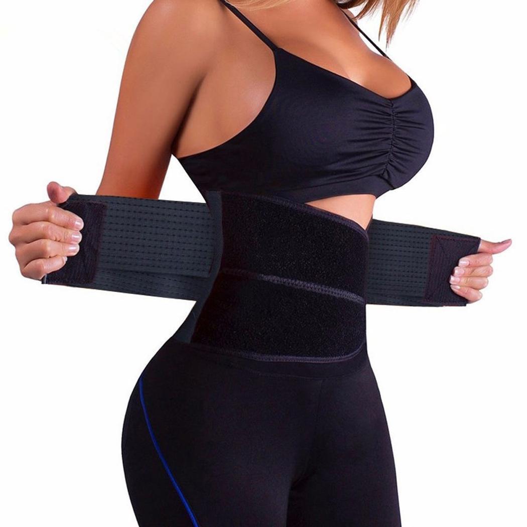 SEXY hombres/mujeres cintura entrenador Cincher Control Underbust Shaper corsé Shapewear cuerpo barriga deporte cinturón faja firme Control cintura