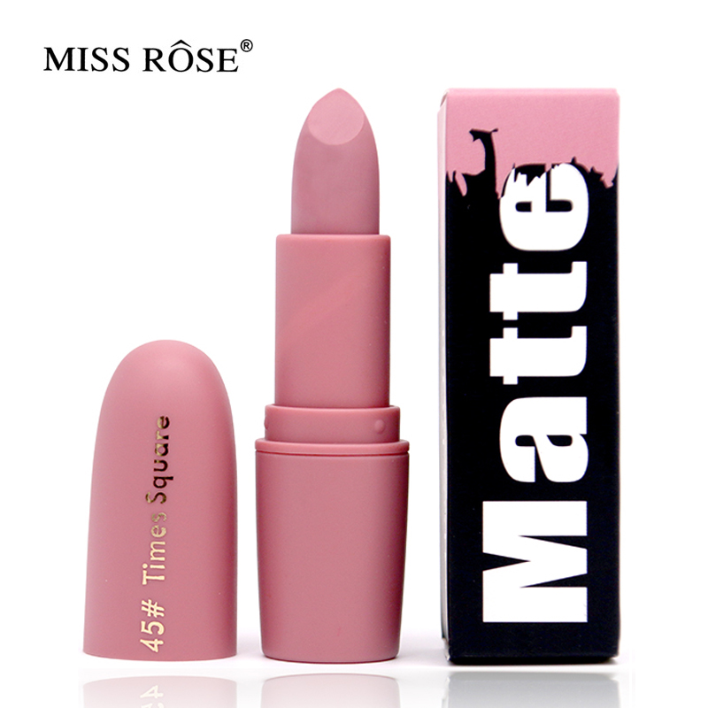 Miss Rose Brand Matte Lipstick Waterproof Nutritious Easy to wear Lipstick Long lasting Natural Lips Makeup