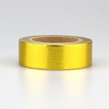 10ピース/ロット15ミリメートル* 10メートルゴールド汚れた色箔和紙テープdiy紙スクラップブッキングプランナーマスキングテープ粘着テープカワイイ文具1