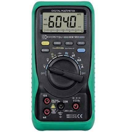 Kyoritsu 1012 High Powered True RMS Digital Multimeter 600V AC/DC VOLTAGE MULTIMETER true rms multimeter ac