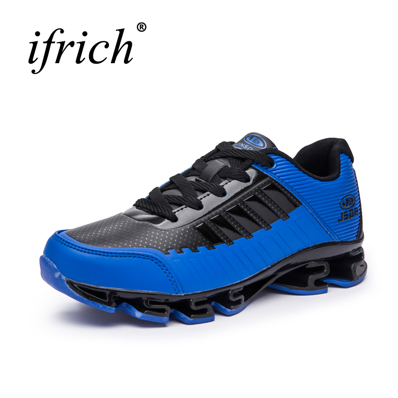 2016 Mens Sport Shoes Running All Seasons Men Shoes Luxury Brand Leather Running Trainers For Men Comfortable Newest Sneakers 2015 zapatillas men running shoes sport shoes mens trainers