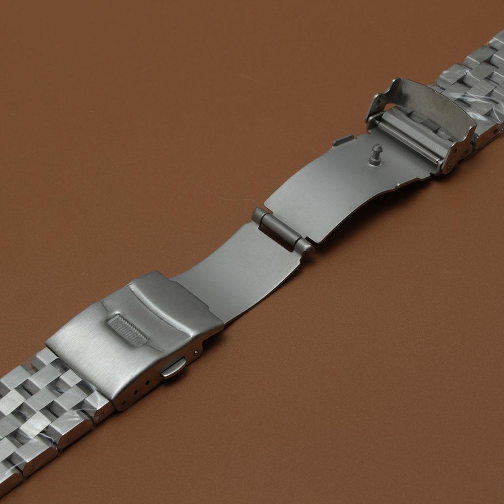 Mat urbåndrem Upoleret armbånd 18mm 20mm 22mm 24mm 26mm sølv - Tilbehør til ure - Foto 4