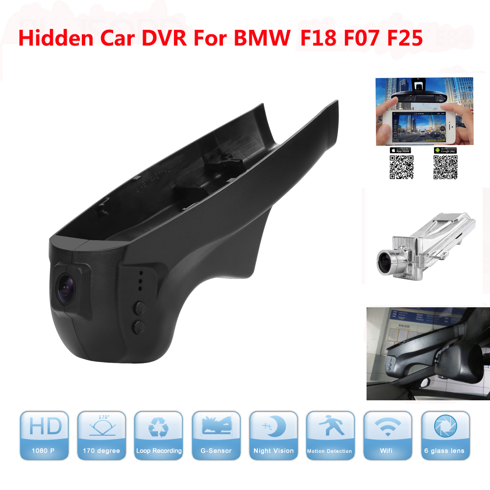 HD 1080P WIFI Car DVR Camera Mirror Auto Video for BMW X3 F18 F07 F25 Support APP Control Novatek 96655 use SONY 322 Sensor car dvr wifi app car camera for bmw 3 serial e90 e91 novatek 96655 car dvrs night vision 170 degree powered by dome light