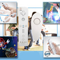 6 color 2in1 Wireless Remote Controller and Nunchuk Controller for Nintendo Wii Controller with Protective Silicone