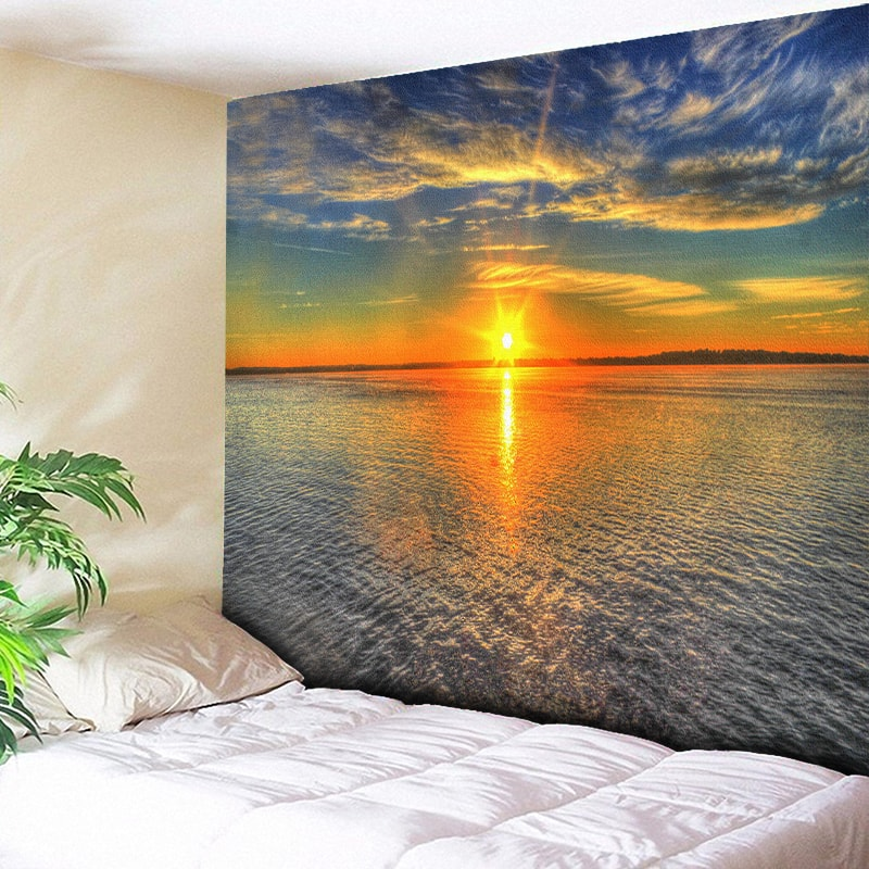 Sunrise Psychedelic Tapestry Beach Towels Indian Wall Hanging Bohemian Fabric for Wall Sheet Home Decor Boho Hippie Wall Blanket in Tapestry from Home Garden