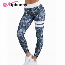 AipBunny Flower Camouflage Printed Compression lulu Yoga Pants Bodybuilding Push up Girl Women SweatPants Running Leggings(China)
