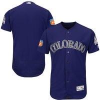MLB Men S Colorado Rockies Baseball Alternate Purple 2016 Spring Training Flex Base Authentic Collection Team