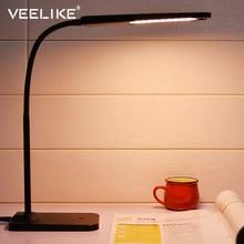 Защита глаз Перезаряжаемые светодиодный настольная лампа с зажимом Беспроводной Desktop Зарядное устройство USB Выход настольная лампа общежитии Спальня прикроватной тумбочке