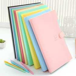 Новый корейский Канцелярские простой многослойная информация бумажная Пряжка A4 папка карамельный цвет папка для хранения файлов 5 В