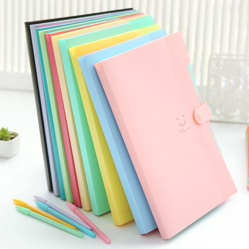 Nouveau multi-couche A4 produits de classement documents d'information boucle 10 couleurs de stockage de fichiers 5 dans l'organisateur de porte-dossier