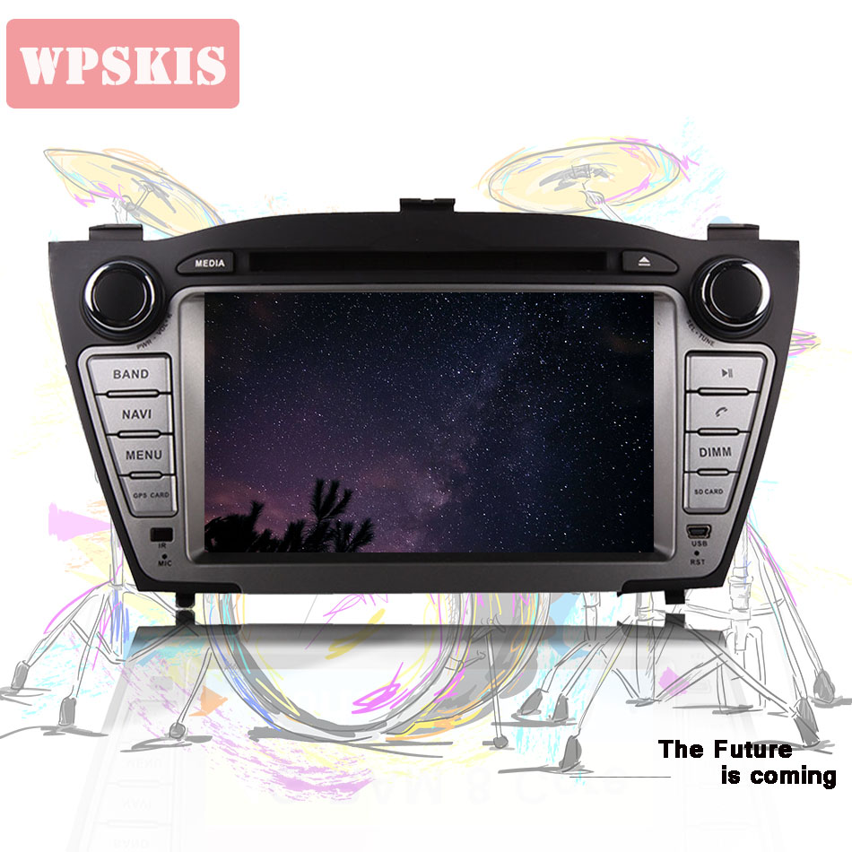 2 DIN Octa Core <font><b>4</b></font> <font><b>GB</b></font> RAM Android 9.0 Car DVD Player for Hyundai iX35 Tucson 2011 2012 2013 with Radio WiFi BT GPS CD Head Unit image