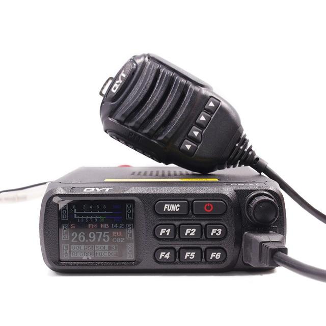 QYT CB 27 CB راديو 26.965 27.405MHz AM/FM 12/24 فولت 4 واط شاشة LCD تقصير المواطن الفرقة متعددة المعايير هام CB المحمول راديو CB 27