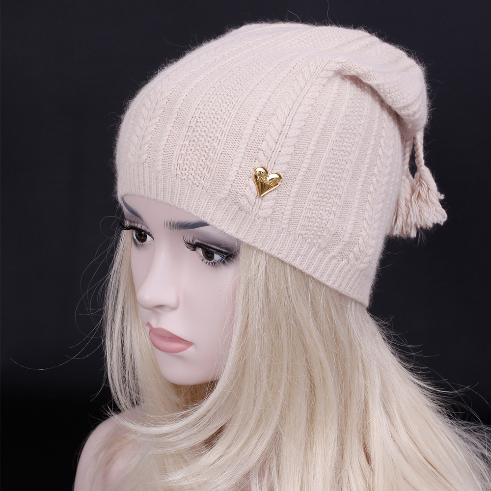 2016 New Brand Winter Adult women warm Beanies hat Fashion Lady Wool knitting hat casual Snow