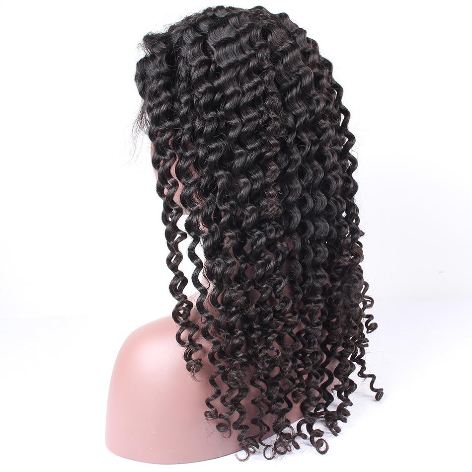 lace front human hair wigs for black women brazilian malaysian indian peruvian virgin hair   (12)