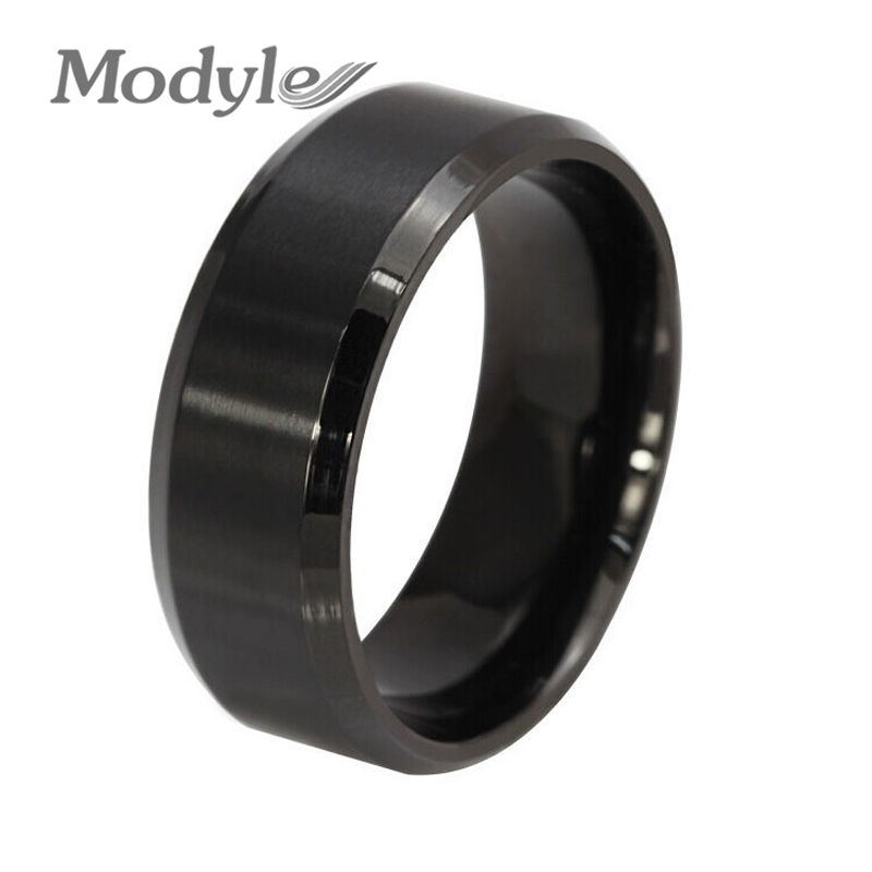 wedding rings black מוצר 2016 new fashion black men ring stainless steel 1018
