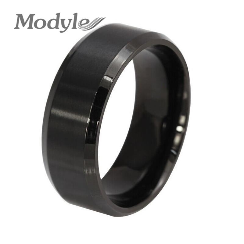2016 New Fashion Black Men Ring Stainless Steel