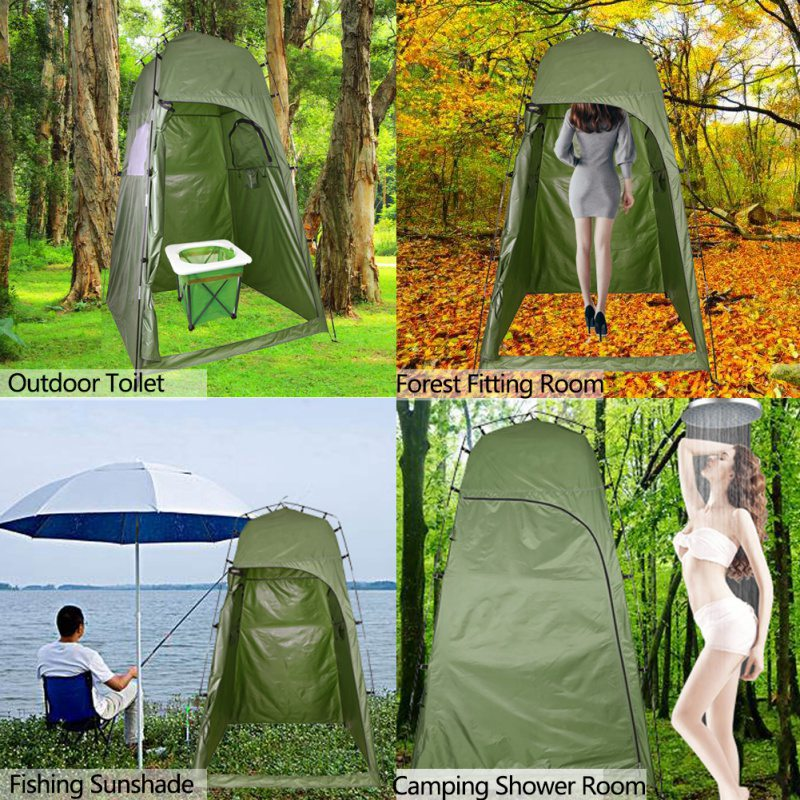 Outdoor Shower Bath Tent Portable Beach Tent Changing Fitting Room Tent Camping Privacy Toilet Shelter Beach Tent With Carry Bag