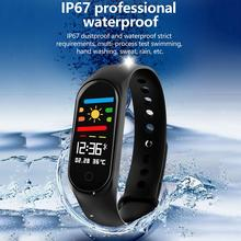 2019 New M4 Smart Band Sport Fitness Tracker Pedometer Heart Rate Monitoring Waterproof Swimming Health Sports Bracelet