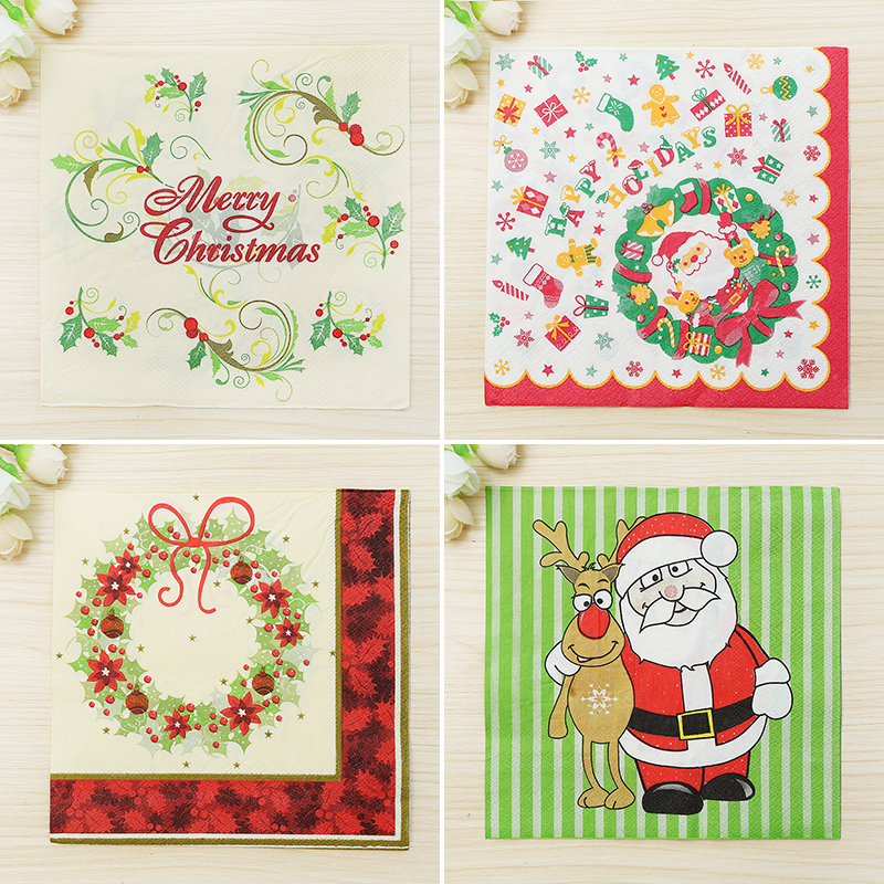 Buy 200pcs christmas paper napkin bell for Christmas decoration suppliers