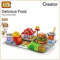 Ideas del bloque de diamante loz fest comida deliciosa comida conjunto mc mini bloques de construcción de plástico diy juguete puzzle educación regalo de los niños 9391