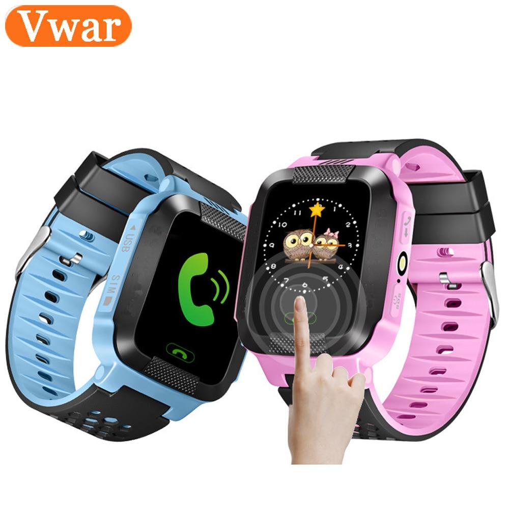 Vwar Q528 Y21 Montre Smart Watch GPS Tracker Moniteur SOS Appel avec caméra Éclairage Bébé Smartwatch pour Enfants Enfant PK Q750 Q100 Téléphone