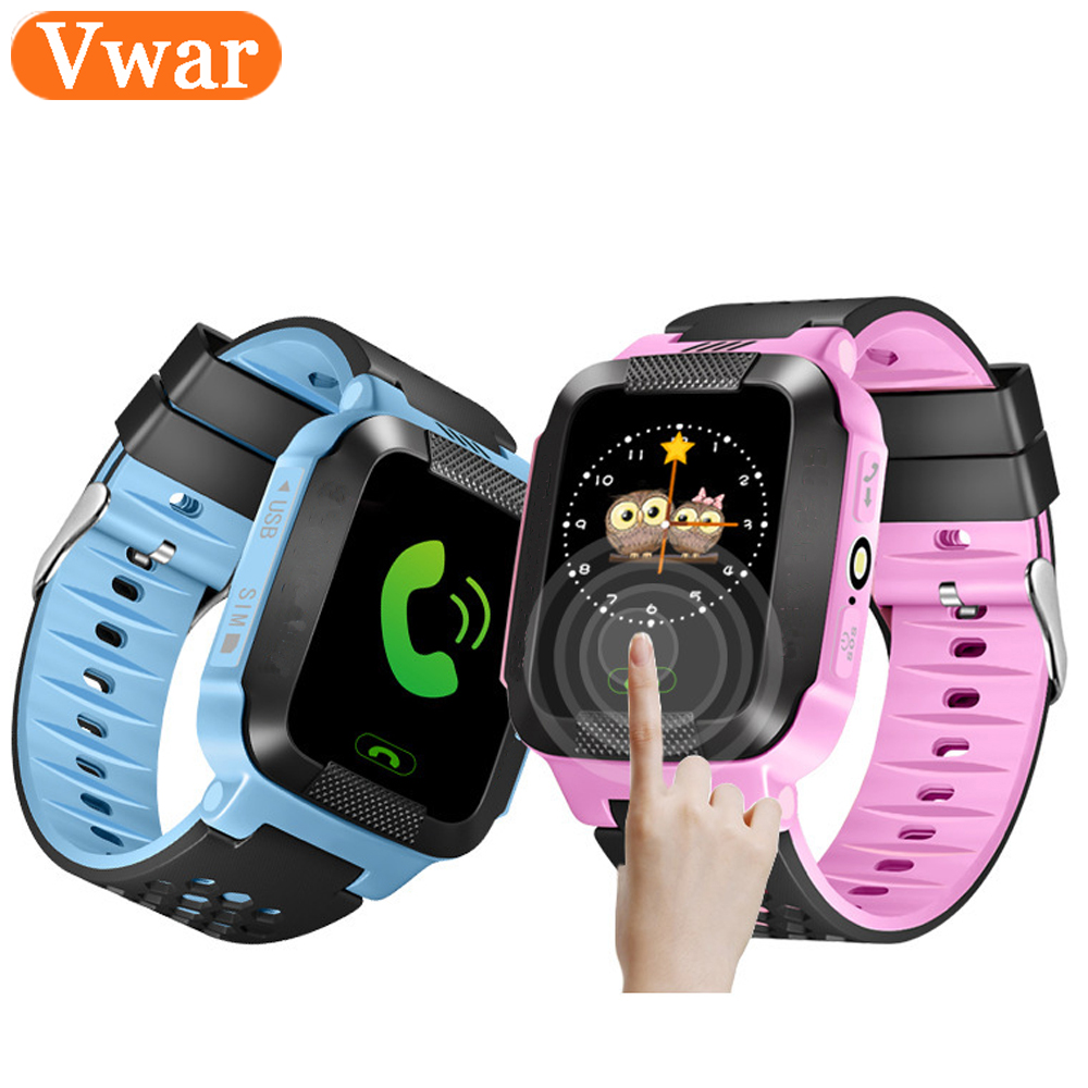 Vwar Q528 Y21 Smart Watch GPS <font><b>Tracker</b></font> Monitor SOS Call with Camera Lighting Baby Smartwatch for Kids Child PK Q750 Q100 Phone