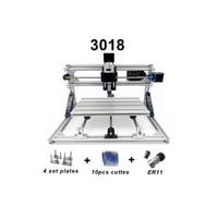 CNC3018 withER11 diy mini cnc engraving machine,laser engraving,Pcb PVC Milling Machine wood router cnc 3018 best Advanced toys