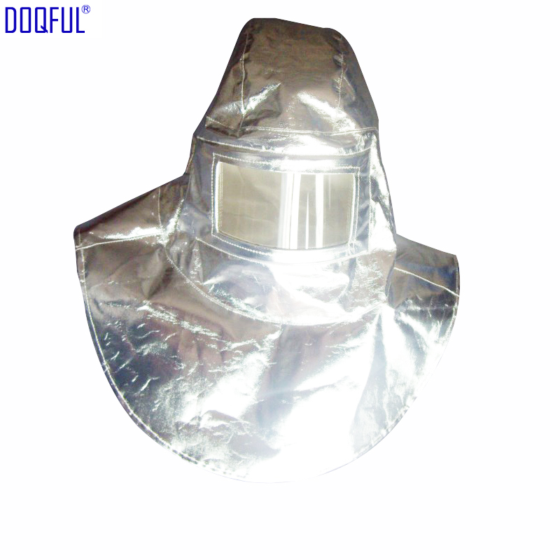 High Quality Heat Resistant Helmet Headgear 1000Degree Thermal Radiation Aluminum Foil Aluminized Hat Fireproof High Temperature