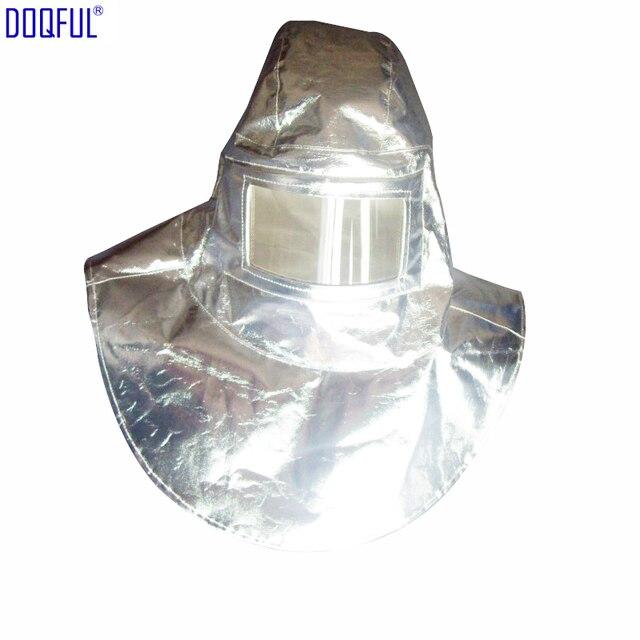 Hoge Kwaliteit Hittebestendige Helm Hoofddeksels 1000 Graden Thermische Straling Aluminiumfolie Gealuminiseerd Hoed Brandwerende Hoge Temperatuur