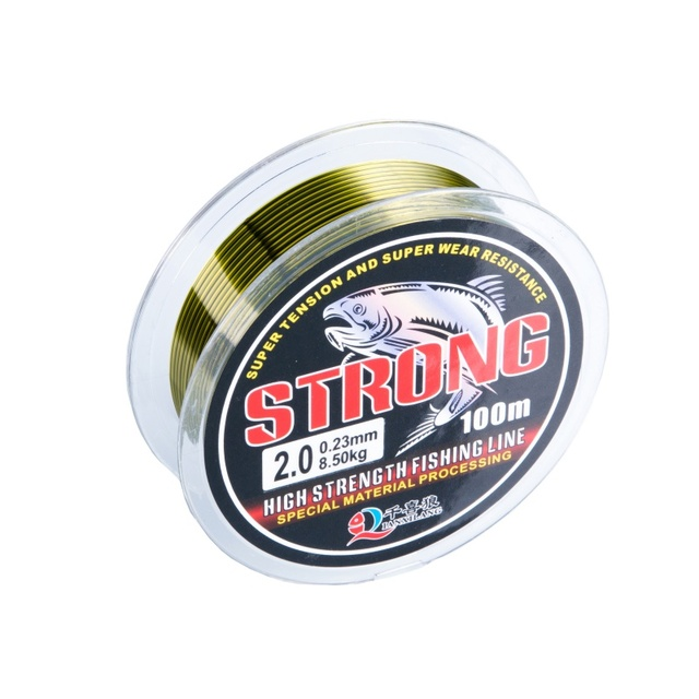 Cheap 100m Fluorocarbon Yellow  Fishing Line Leader Wire Fishing Cord Accessories the Flurocarbone Winter Rope Fly Fishing Lines