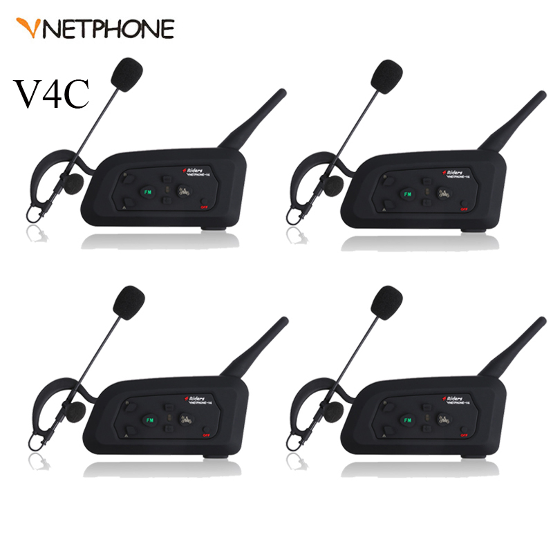 4 pièces Vnetphone D'arbitre De Football Bluetooth Interphone Pour 4riders BT Sans Fil Intercomunicador Interphone Arbitral Casque